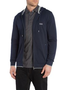 Hooded zip through lounge top