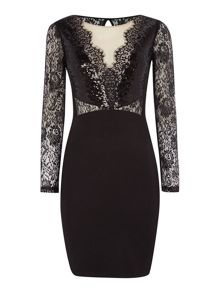 Michelle Keegan Long Sleeved Sequin Dress