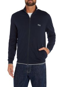 Hooded zip through lounge jacket