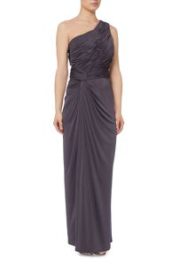 Biba One shoulder rouched maxi dress
