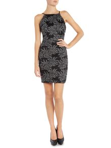 Lipsy Square Neck Patterned Sequin Bodycon Dress