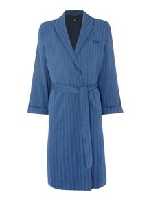 Herringbone shawl collar robe