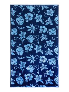 Criminal Hawaiian Blues Towel