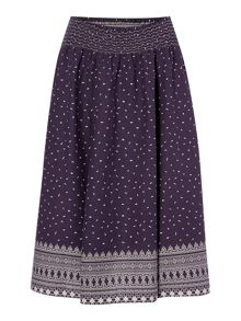 BRAINTREE Midi printed skirt
