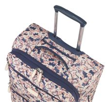 Cherry blossom dog 4 wheel medium soft suitcase