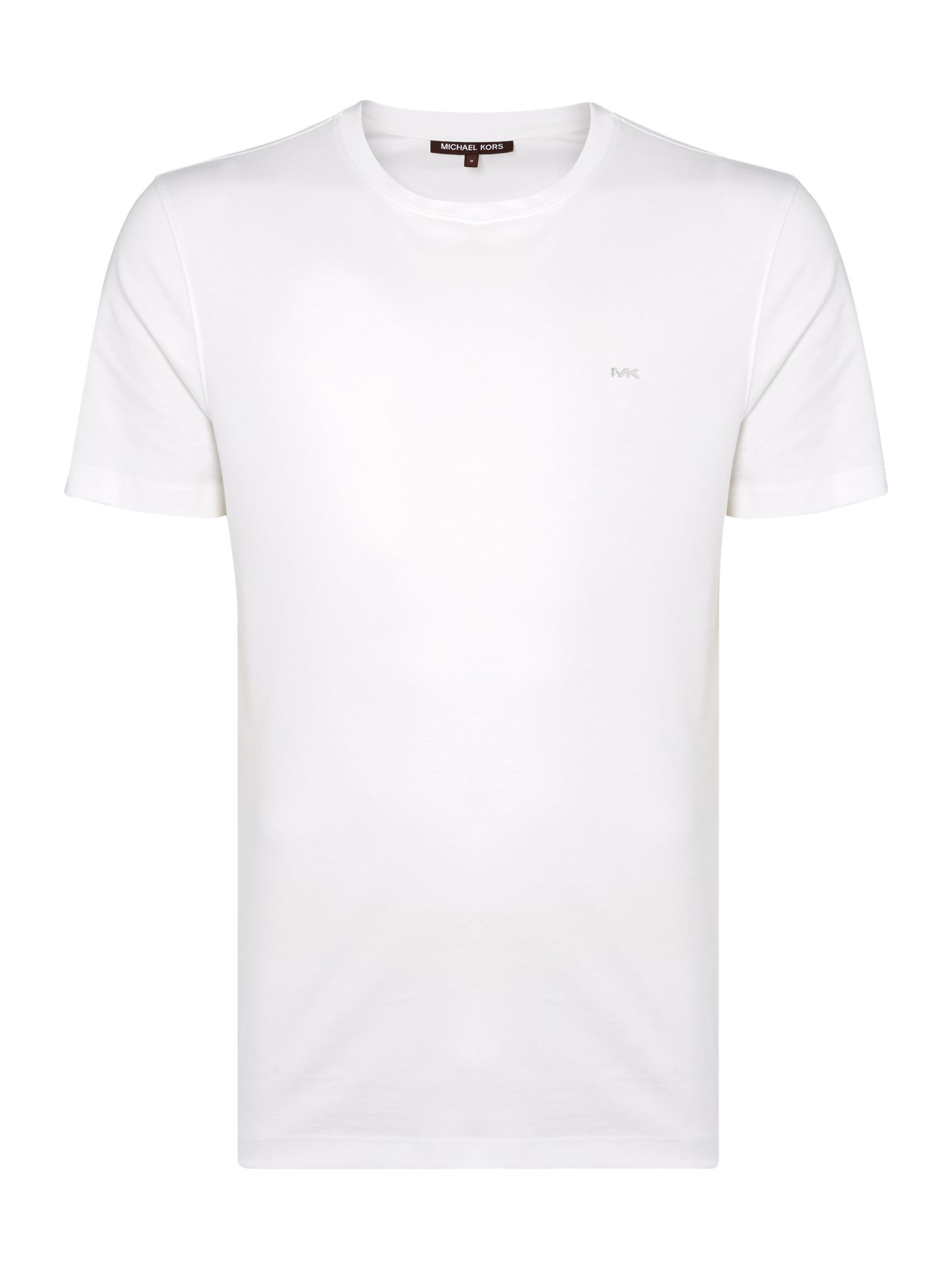 Men's Michael Kors Regular fit sleek MK logo t shirt, White