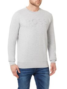 Hugo Boss Skubic Slim Fit Logo Graphic Jumper