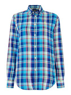 Evie relaxed long sleeve check shirt