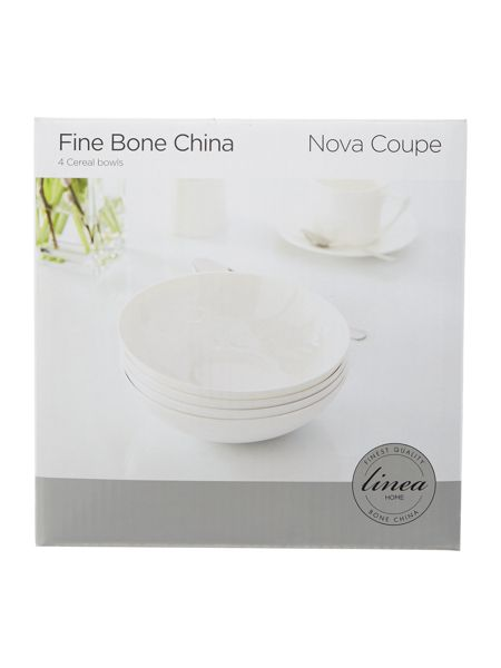Linea Nova fine bone china coupe bowl set of 4
