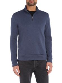 Hugo Boss Sidney Regular Fit Waffle 1/2 Jumper