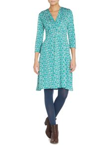 BRAINTREE V neck printed dress