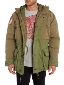 Down filled parka jacket