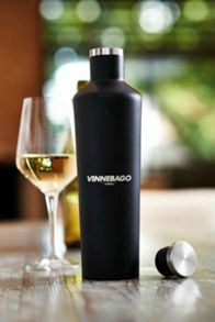 Vinnebago wine flask black