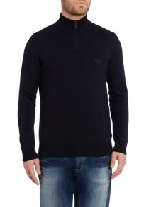 Folson Regular Fit 1/2 Zip Logo Knit