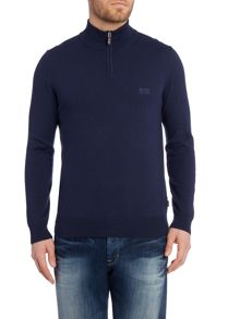 Hugo Boss Folson Regular Fit 1/2 Zip Logo Knit