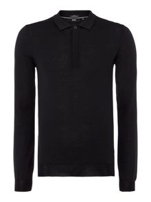 Tesoro-F Slim Fit Long Sleeve Knitted Polo