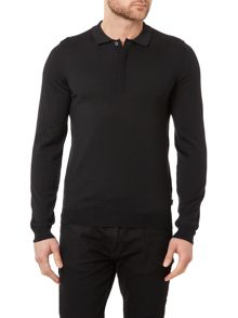 Hugo Boss Tesoro-F Slim Fit Long Sleeve Knitted Polo