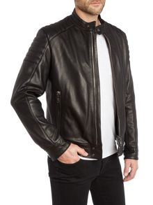Zip Up Cow Leather Biker