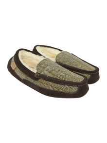 Eaton Genuine Harris Tweed moccasin slipper
