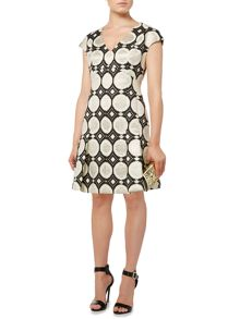 Biba Jacquard fit & flare dress