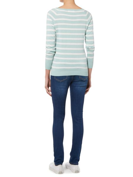 Brakeburn Striped knitted jumper
