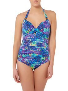 Biba Midnight Rainforest Grace Keyhole Swimsuit