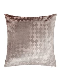 Geometric velvet cushion, grey