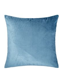 Linea Spot velvet cushion, teal