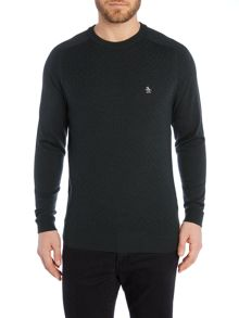 Original Penguin Marley cable crew merino sweater