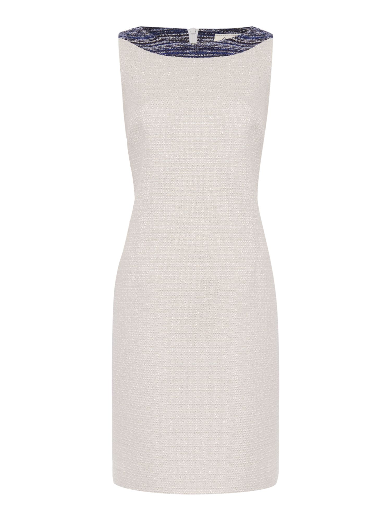 Linea Made in Britain Isla tweed shift dress, Ivory