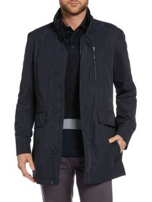 Hugo Boss Coman Zip Up Overcoat