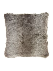 New Striped faux fur cushion