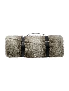 Casa Couture New Striped faux fur bedspread