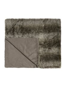 New Striped faux fur bedspread