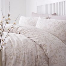 Linea Memoirs jacquard natural duvet cover set