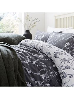 Shadow leaf duvet cover set