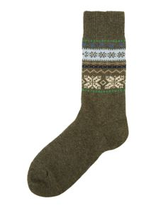 Barbour Alston fairisle socks