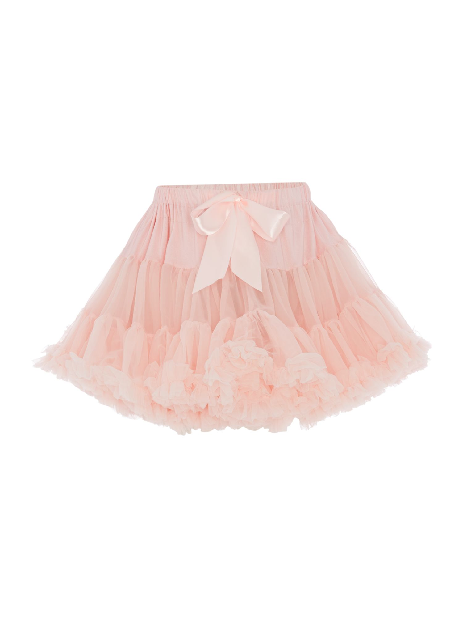 Angel's Face Angel's Face Girls Multi layered tutu skirt with big bow, Light Pink