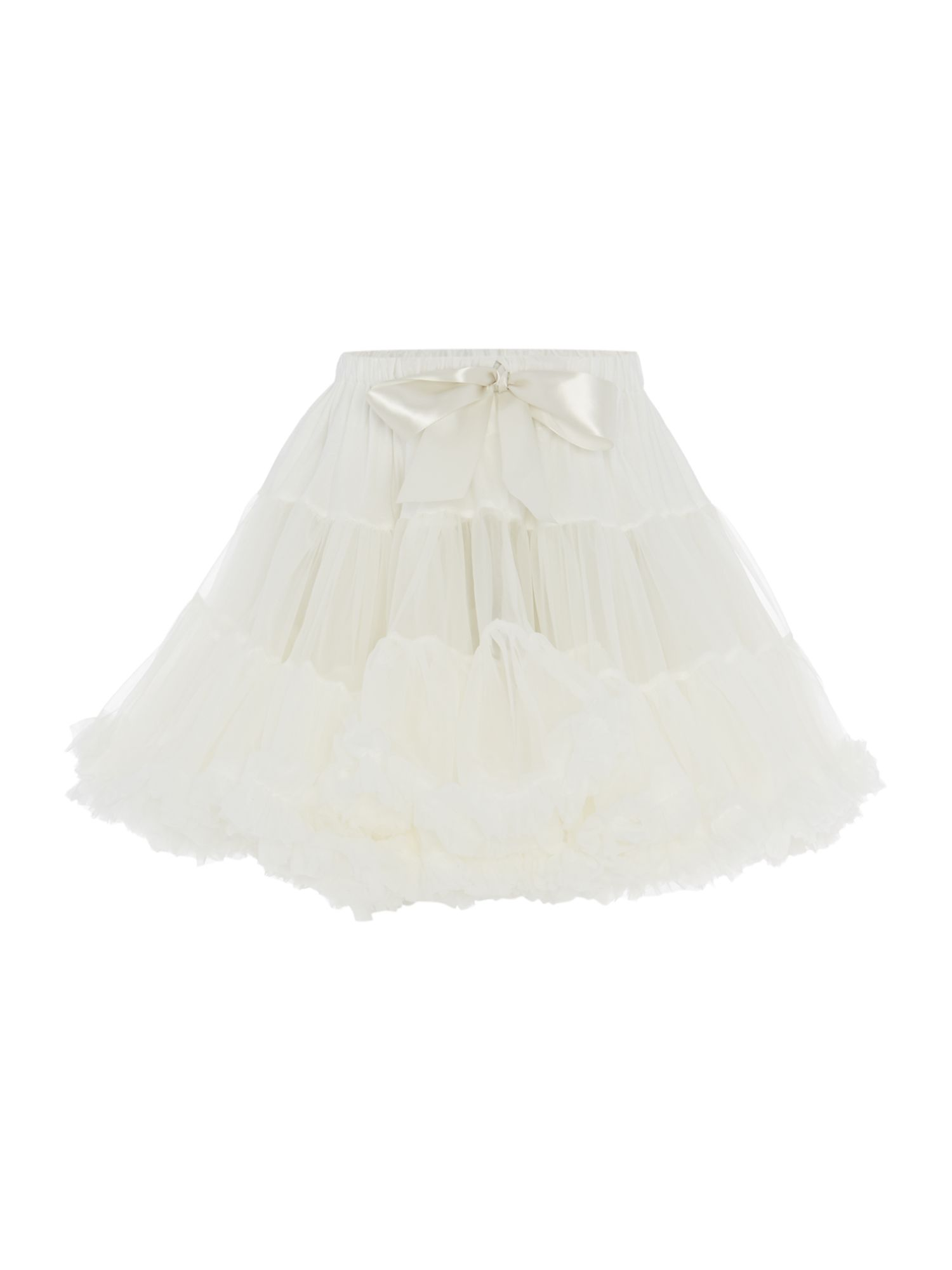 Angel's Face Angel's Face Girls Multi layered tutu skirt with big bow, White