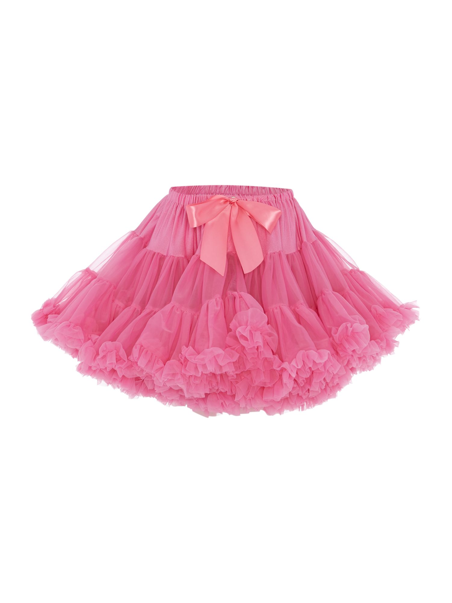 Angel's Face Angel's Face Girls Multi layered tutu skirt with big bow, Candy Pink