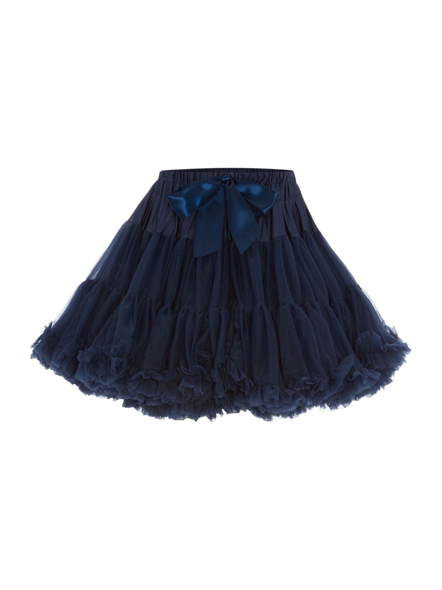 Angel's Face Angel's Face Girls Multi layered tutu skirt with big bow, Navy