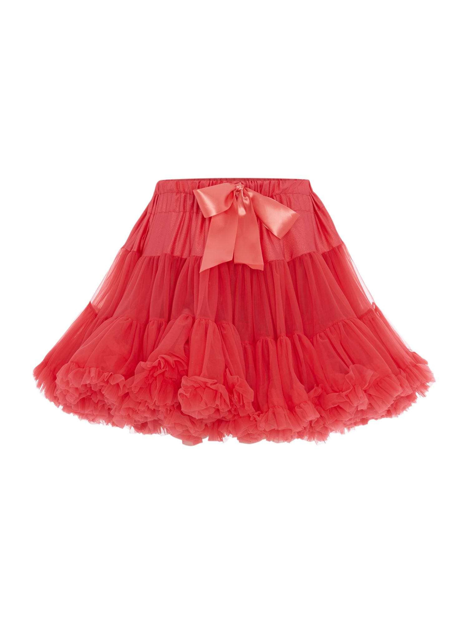 Angel's Face Angel's Face Girls Multi layered tutu skirt with big bow, Red