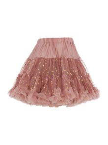 Angel's Face Girls Multi layered sparkly tutu with big bow