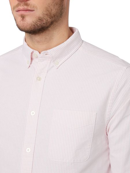 Howick Striped Oxford regular fit shirt