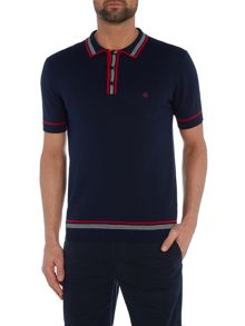 Mens knitted tipped polo