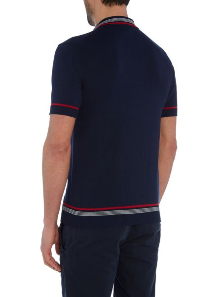Merc Mens knitted tipped polo