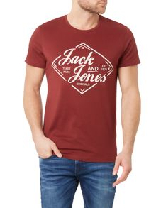 Jack & Jones Diamond Crew Neck Short Sleeve T-shirt