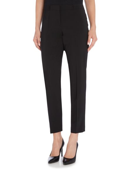 Hugo Boss Tiluna Wool Stretch Slim Crop Trousers