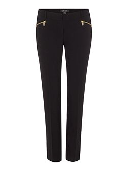 Episode Smart straight leg trousers with gold zip