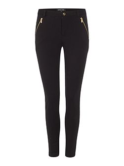 Slim leg trousers with gold button detail